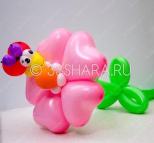 1-04 Цветок с божьей коровкой