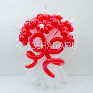 1-29 Большой красно-белый букет из воздушных шаров