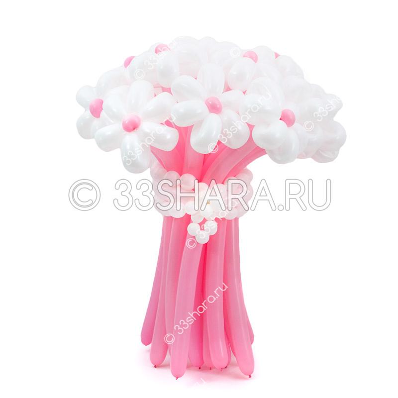 1-30 Нежный розовый букет из воздушных шаров