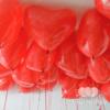 Гелиевые сердечки 35 см