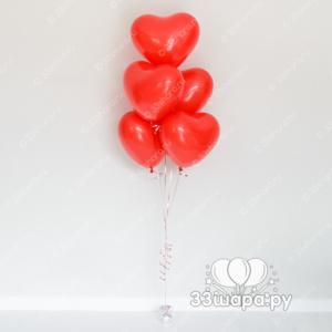 Фонтан из 5 сердец