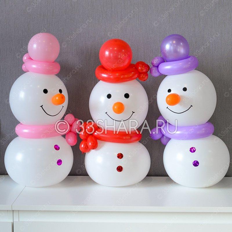 Снеговички из воздушных шаров