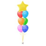 Фонтан-Звезда из гелиевых шаров