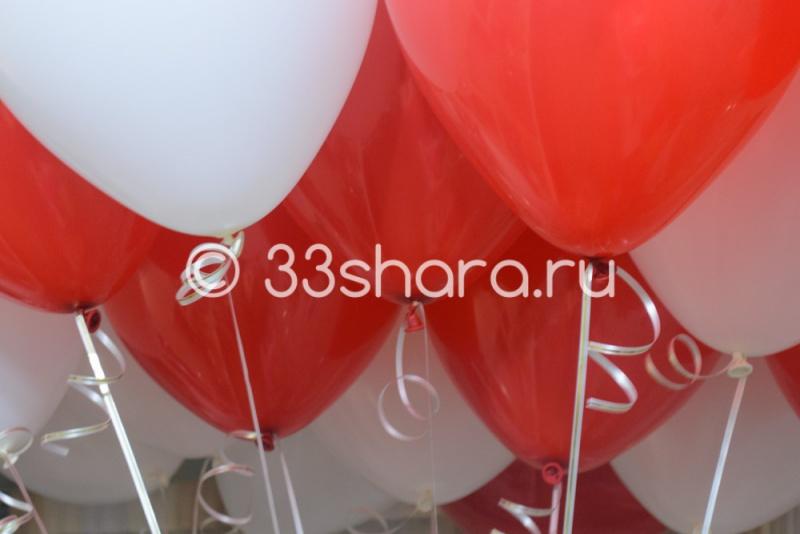 Красные и белые шары пастель