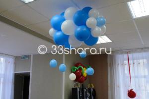 Оформление шарами детсада - воздушные облака и цветы