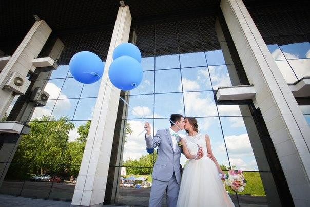 Большие гелевые шары на свадьбу с доставкой