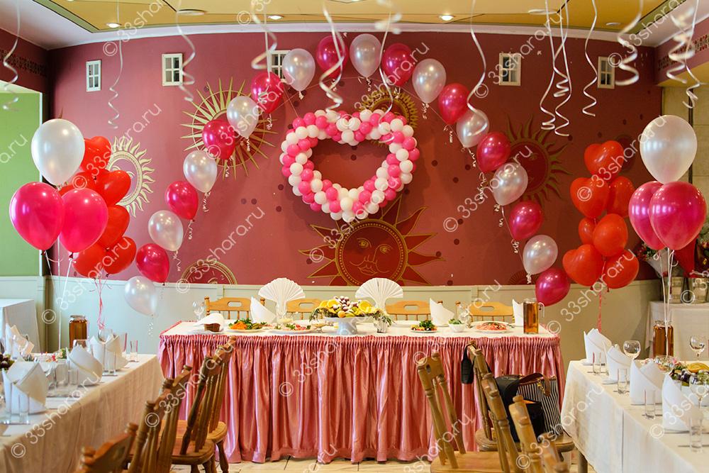 """Украшение зала на свадьбу - ресторан гостиницы """"Клязьма"""""""