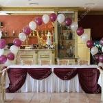 """Украшение свадебного зала тканью и шарами - ресторан """"Барин"""""""