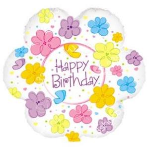 Цветок, Happy Birthday (бабочки и цветы)