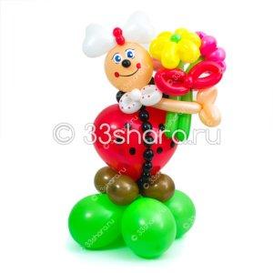 2-80 Малышка божья коровка из воздушных шариков