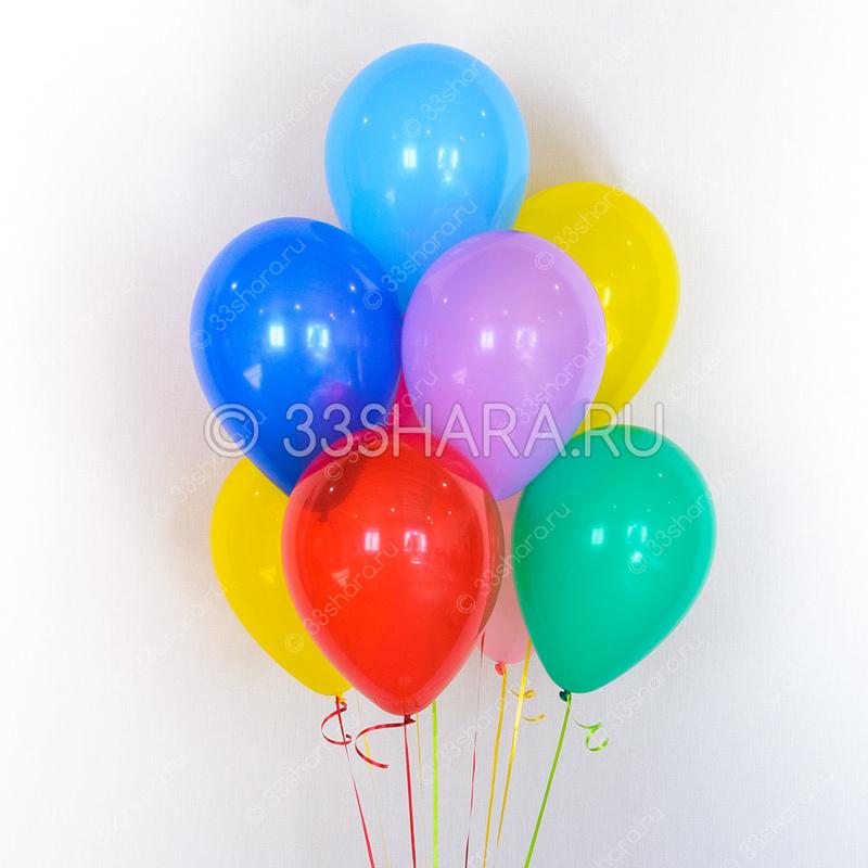 Гелиевые шары ЭКОНОМ МИНИ 10 дюймов пастель - время полета от двух дней