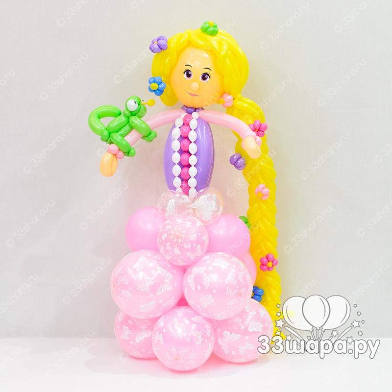 Принцесса Рапунцель из воздушных шаров
