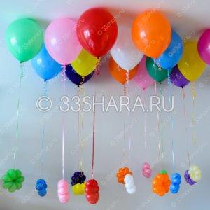 4-19-Цветочный-дождик из гелиевых шаров