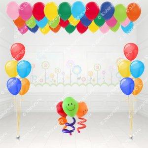 Пружинки, фонтаны и 30 шаров под потолок