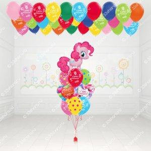 Детский пакет №5 Фонтан Пони Пинки Пай, шарики под потолок