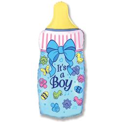 901644 Бутылочка для мальчика с гелием