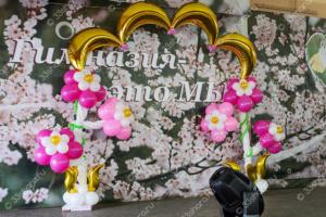 Украшение актового зала Гимназии №3 для проведения конкурса красоты