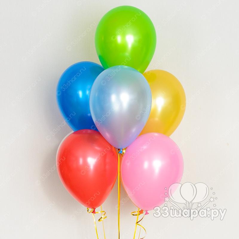 Гелиевые шары перламутр