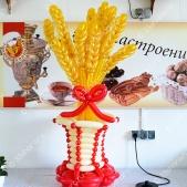 Корзинки с колосками для Владимирского хлебокомбината – можем изготовить любую сувенирную продукцию из шаров