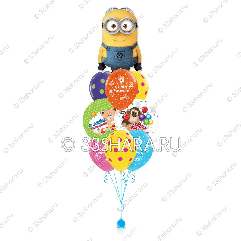 7-02 Фонтан из воздушных шаров детский Миньон