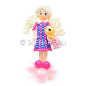 2-87 Девочка с собачкой из воздушных шаров во Владимире