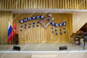 Колькольчик - оформление последнего звонка в школе во Владимире