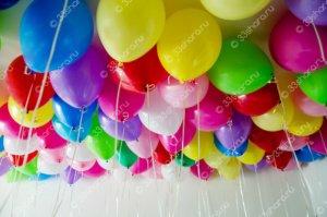 Ассорти шаров пастель под потолок