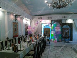 Гелиевая цепочка и фонтаны на свадьбу во Владимире
