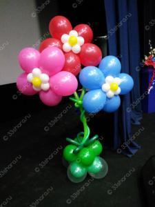 Цветок из гелиевых шаров