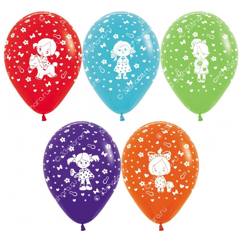 4-42 Гелиевые шарики для девочки
