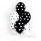 4-50 Гелиевые шары черно-белые в горошек