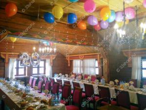Оформление праздничного зала в Русской деревне