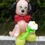 Милая собачка из воздушных шаров