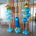 Единичка и фонтаны на годовасие для мальчика во Владимире