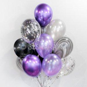 """Набор шаров """"Фиолетовый блеск"""""""