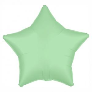 Звезда фольгированная светло-зеленая