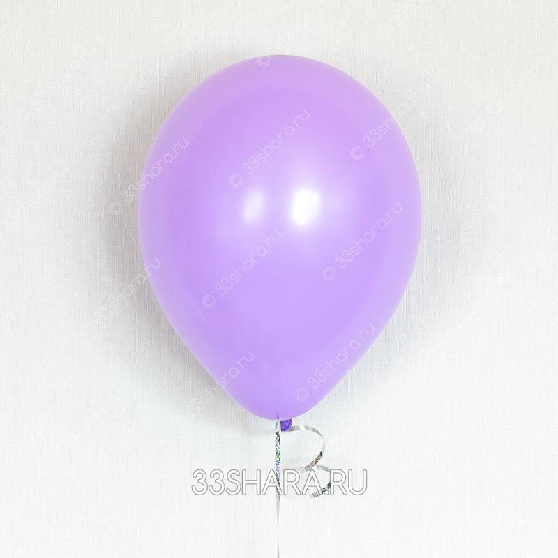 Сиреневый гелиевый шарик