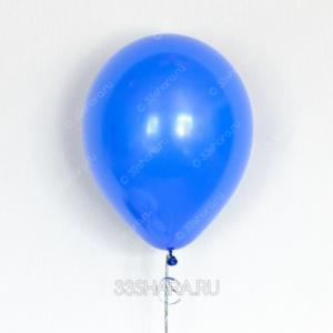 Синий гелиевый шарик