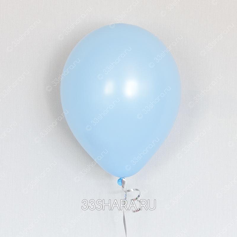 Голубой гелиевый шарик