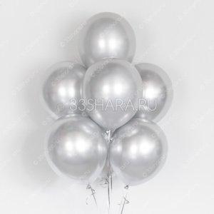 """Гелиевые шары """"Хром серебряный"""""""