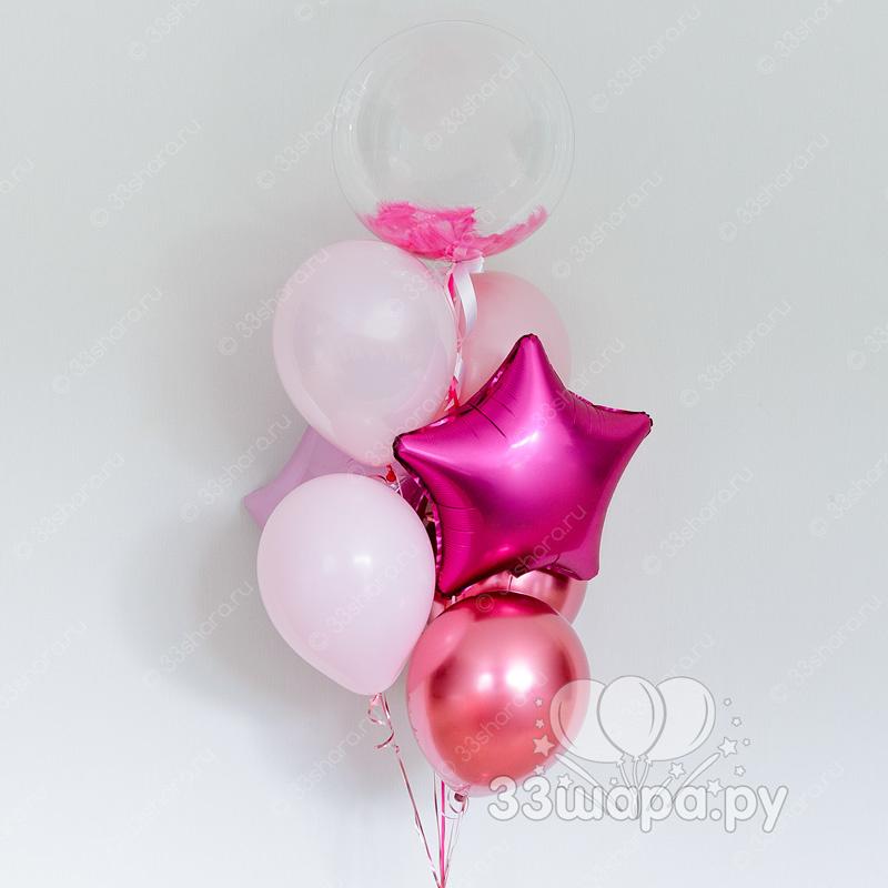 Фонтан-баблс-розовый