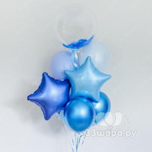 Фонтан-баблс-синий