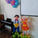 Фигурки детей из шаров на выпускной из садика
