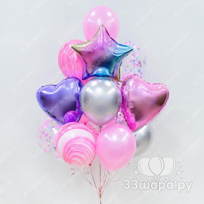 """Набор шаров """"Розовый градиент"""""""