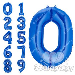 Синяя цифра из шаров во Владимире