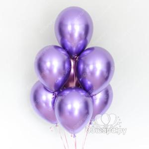 Гелиевые шары Хром фиолетовый