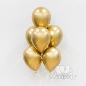 """Гелиевые шары """"Хром античное золото"""""""