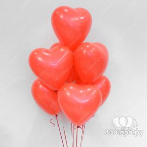 Красные сердечки мини