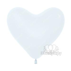 Белые гелиевые сердечки