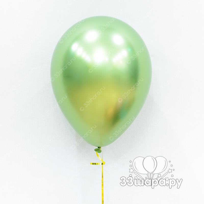 """Гелиевые шары """"Хром лайм"""""""